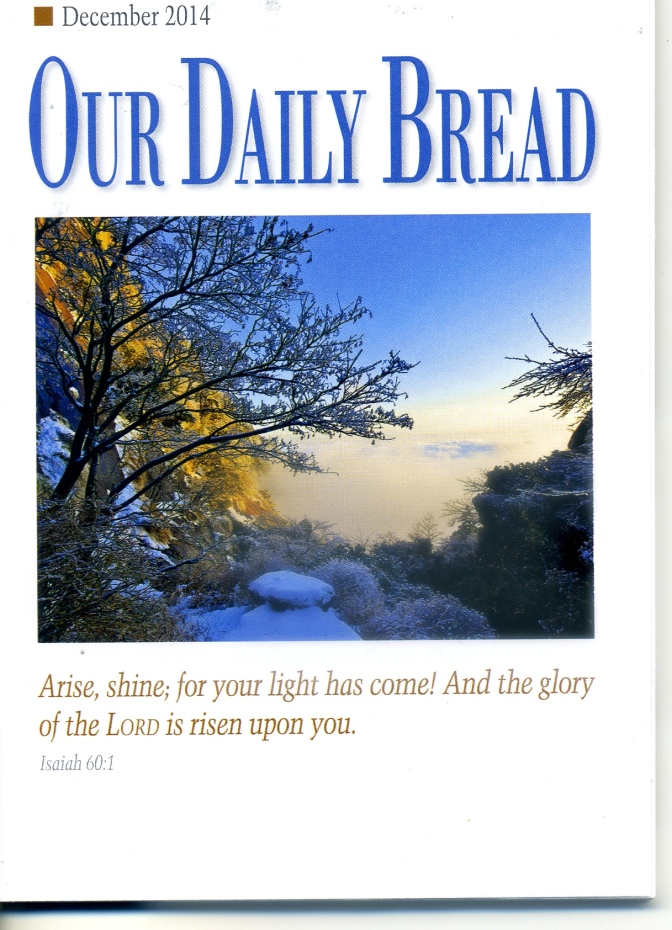 Our Daily Bread — Hurry Not