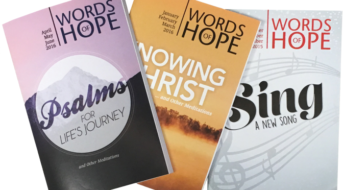 Words of Hope – Daily Devotional – Reserving the Empty Space in Your Heart